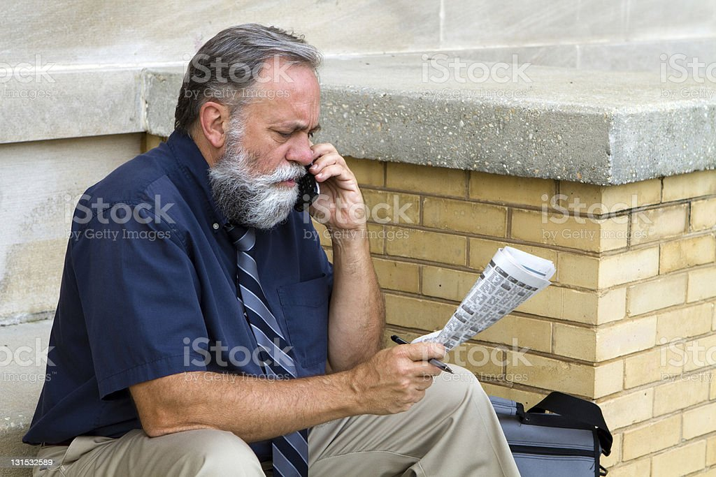 Man Seeking Employment stock photo