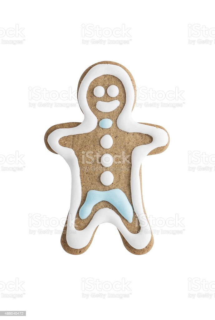 Man shaped gingerbread cookie stock photo