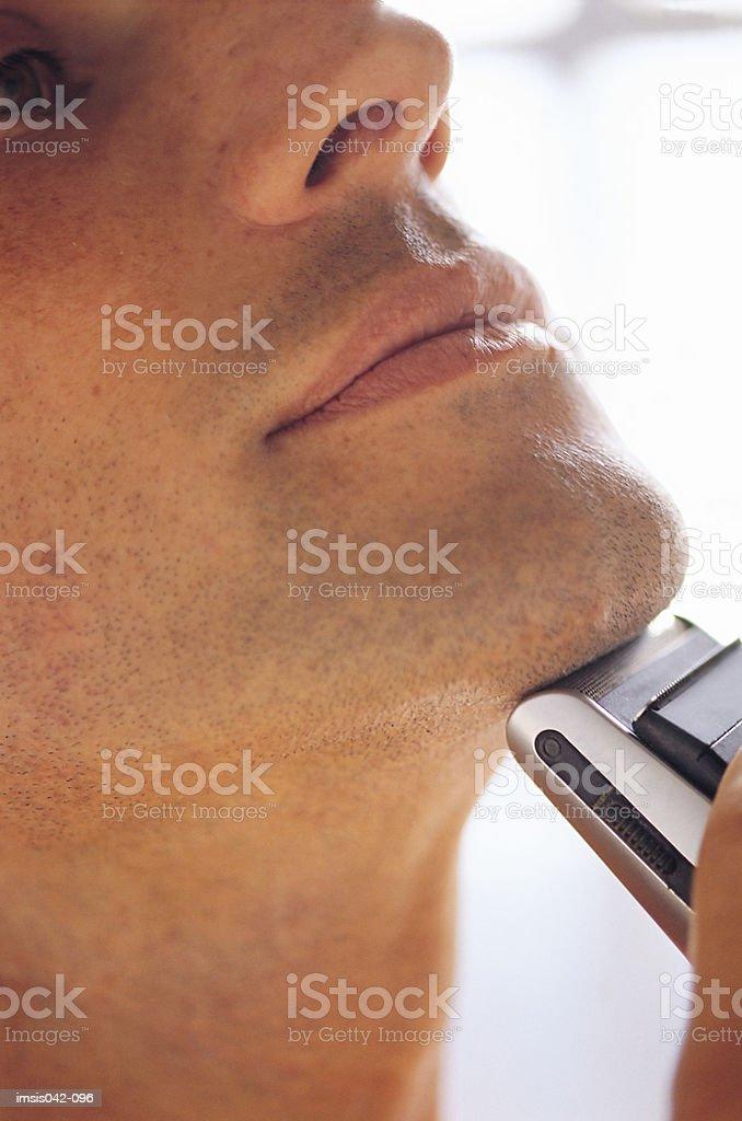 Hombre afeitado foto de stock libre de derechos