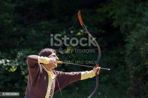 istock Man shooting arrows 576926564