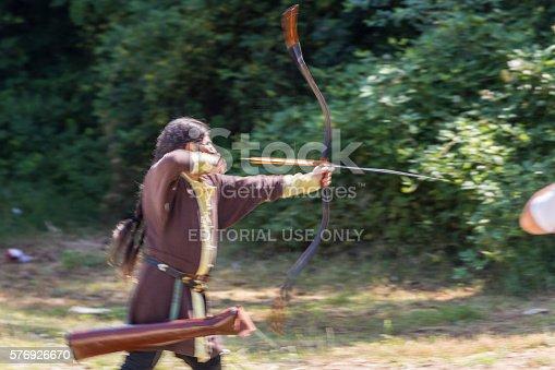 istock Man shooting arrows 576926670