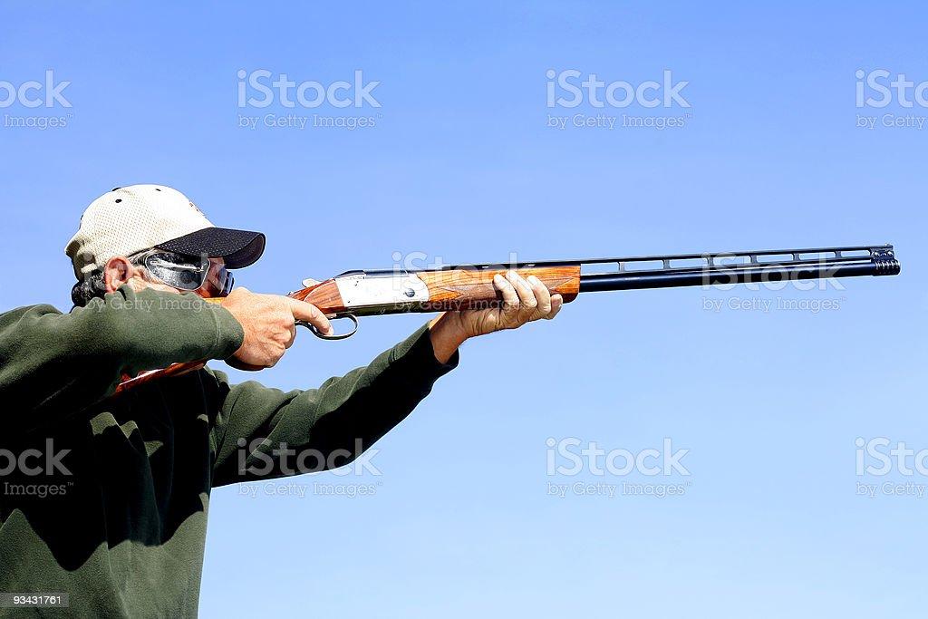 Man Shooting Skeet stock photo