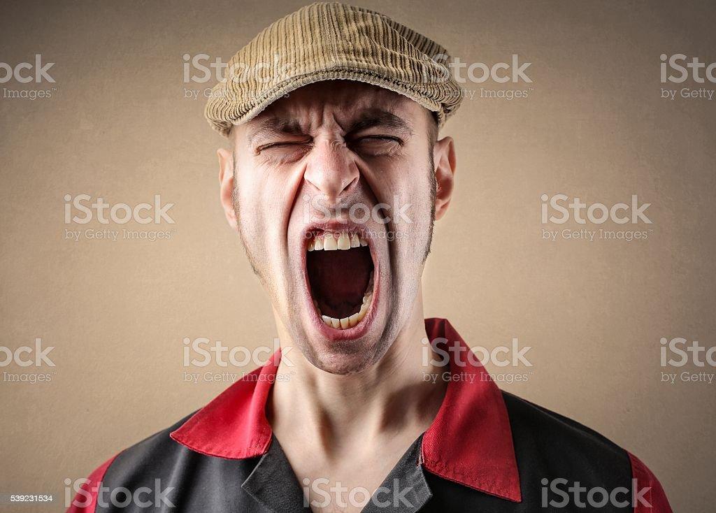Hombre gritando foto de stock libre de derechos