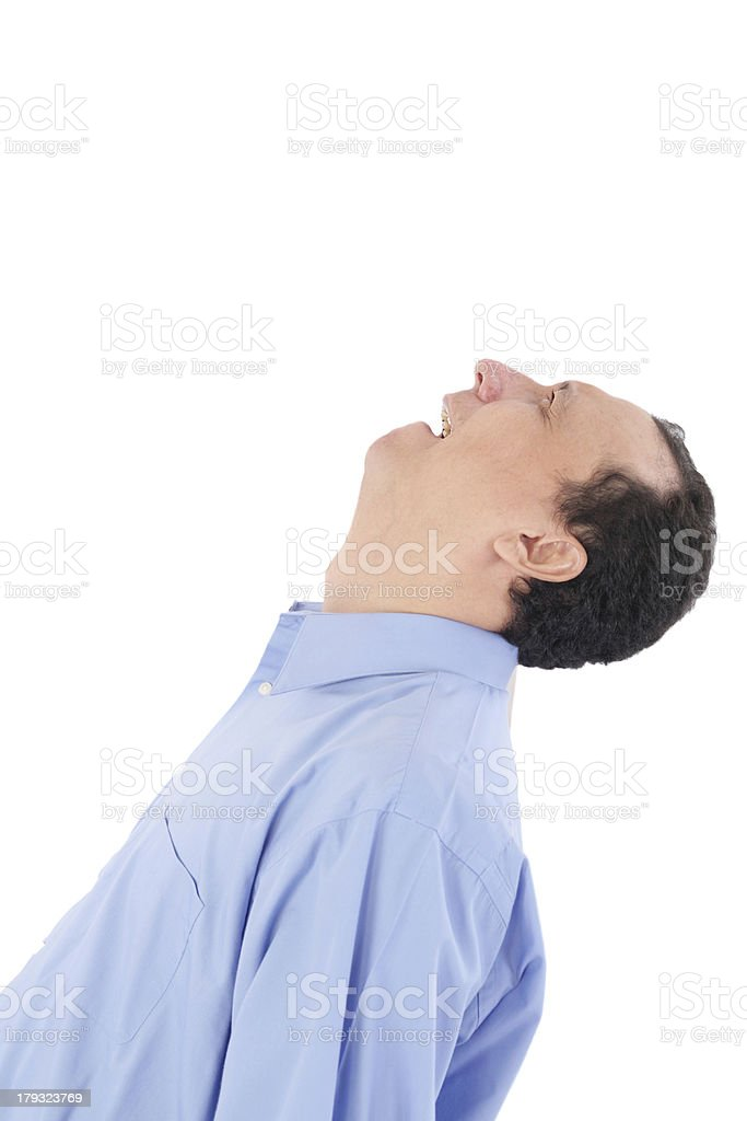 man shouting while beeing very frustrated royalty-free stock photo