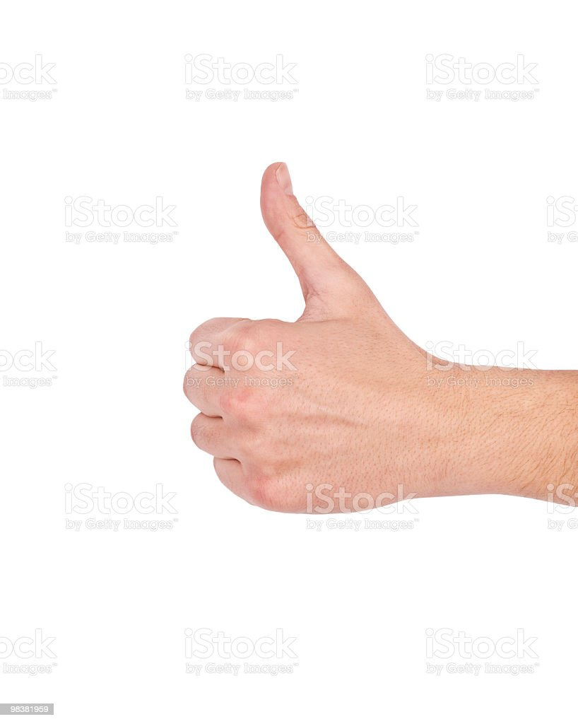 Man Showing Thumps Up royalty-free stock photo