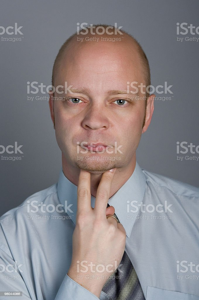 Man shows that all has bothered it royalty-free stock photo