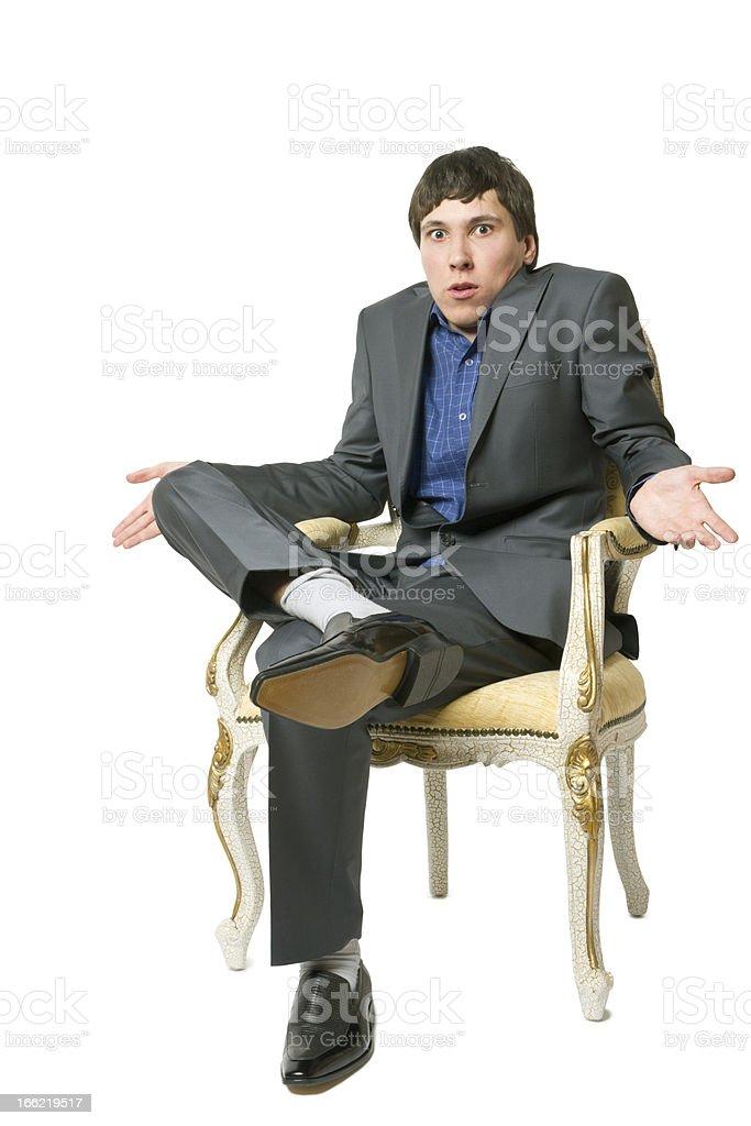 man sits royalty-free stock photo