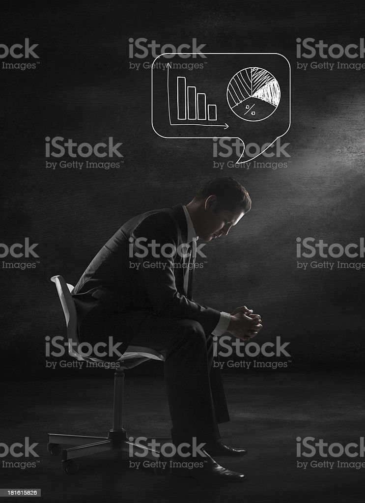 man sitting and thinking royalty-free stock photo