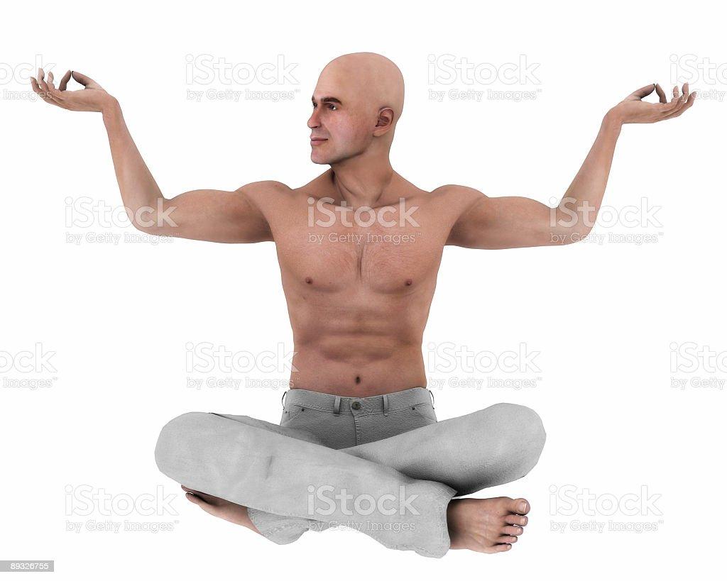 Man sitting meditation royalty-free stock photo