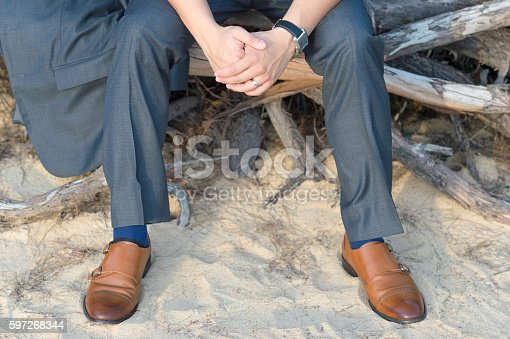 Man Sitting On Roots Stock Photo & More Pictures of Adult