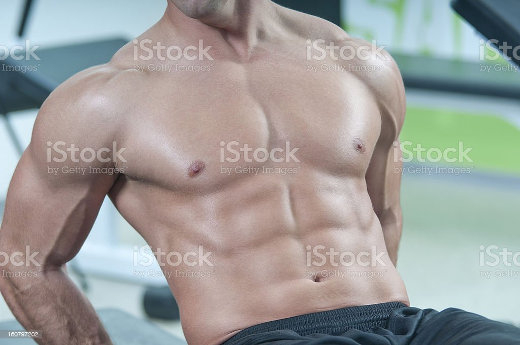 Man six pack royalty-free stock photo