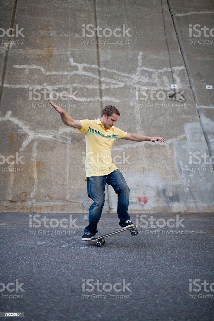 A man skateboarding royalty-free 스톡 사진