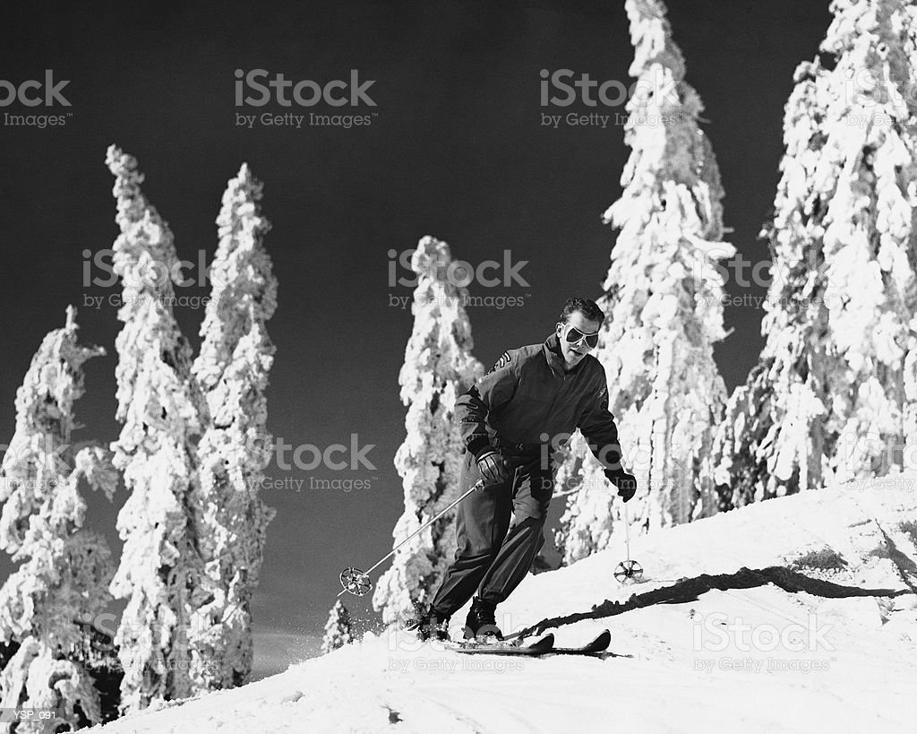Man skiing royalty-free stock photo