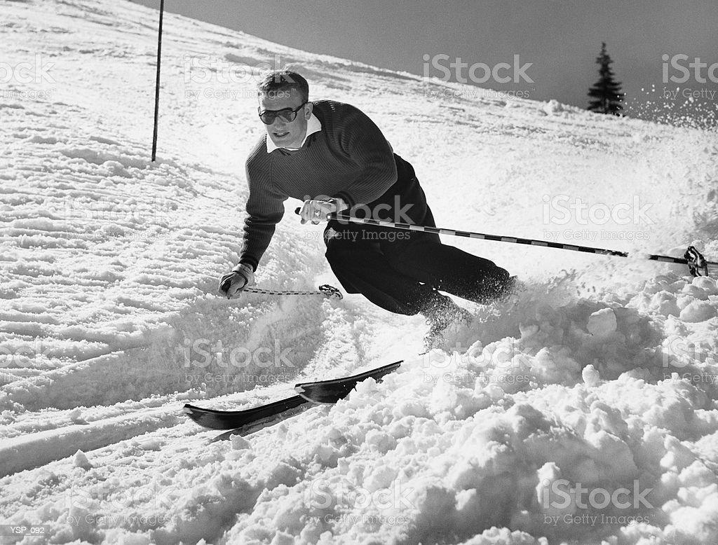 Человек, катающийся на лыжах Стоковые фото Стоковая фотография