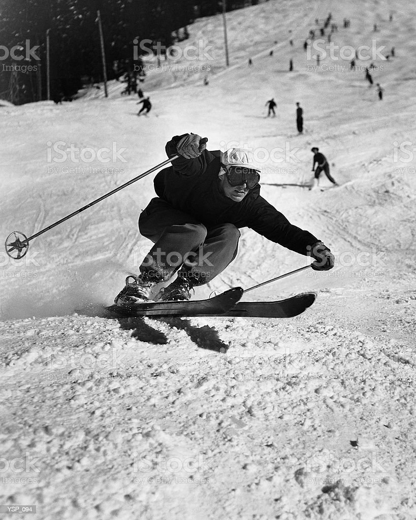 Man skiing 免版稅 stock photo