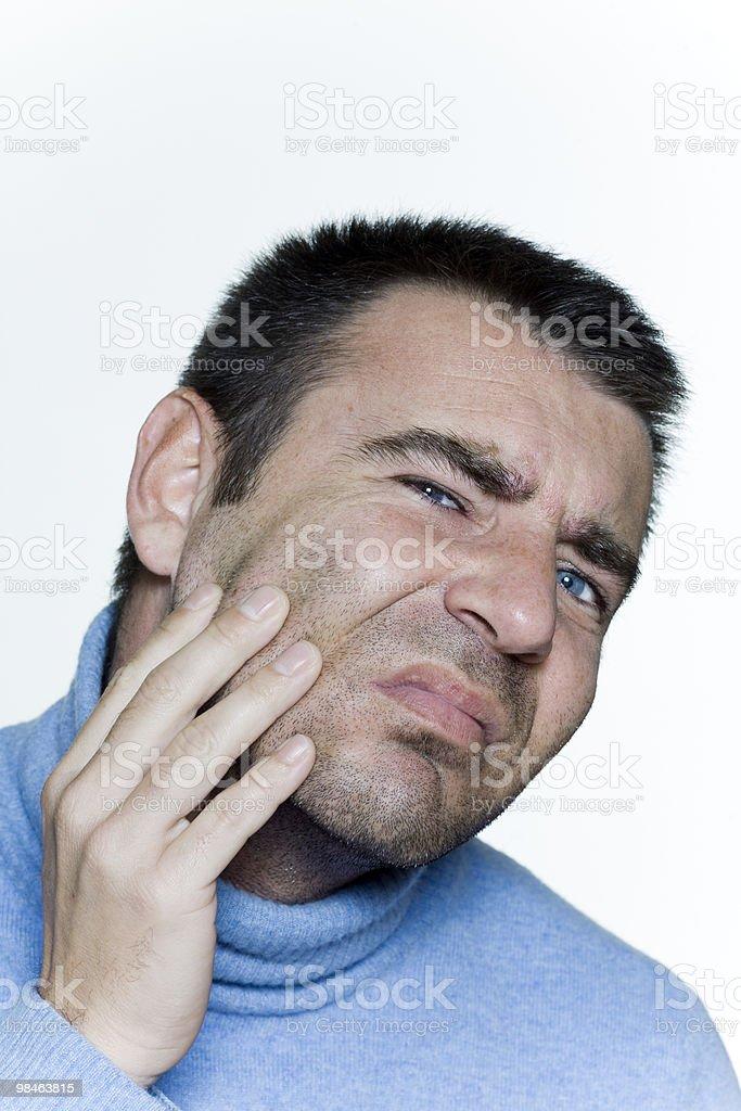 man skin problem royalty-free stock photo