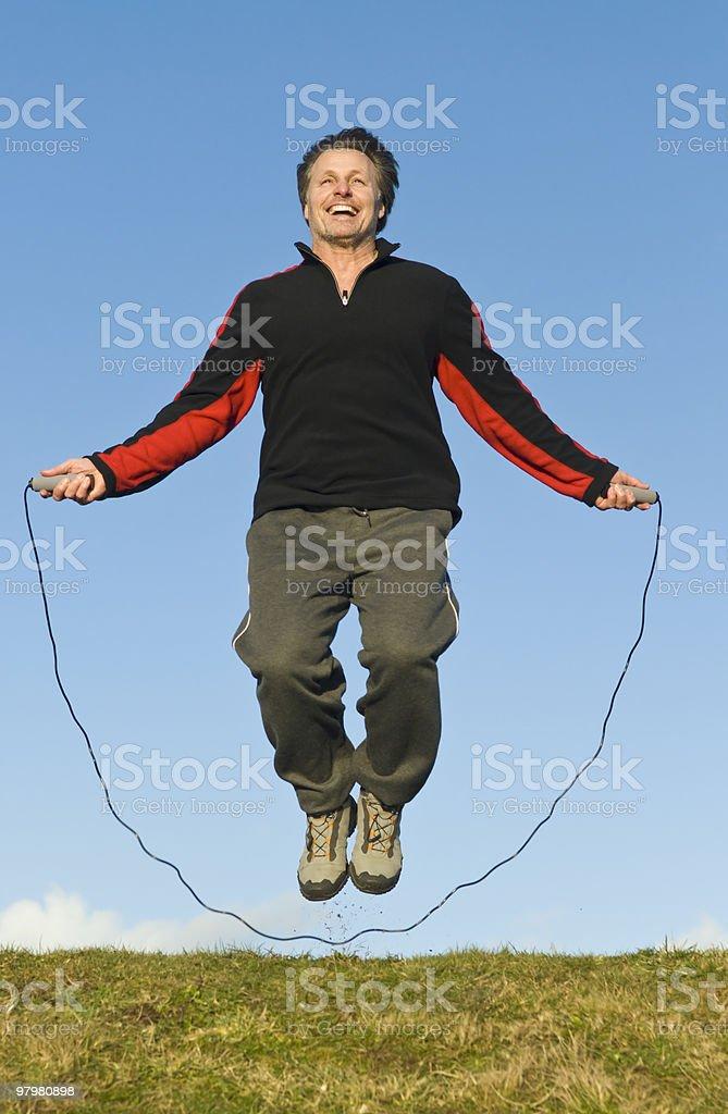 man skipping royalty-free stock photo