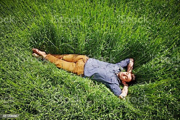 Mann Schlafen Im Feld Stockfoto und mehr Bilder von Bauernberuf