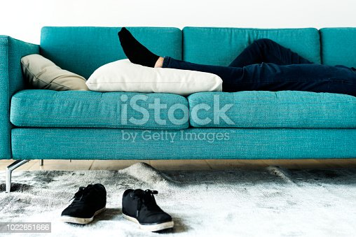 Man sleeping on the sofa