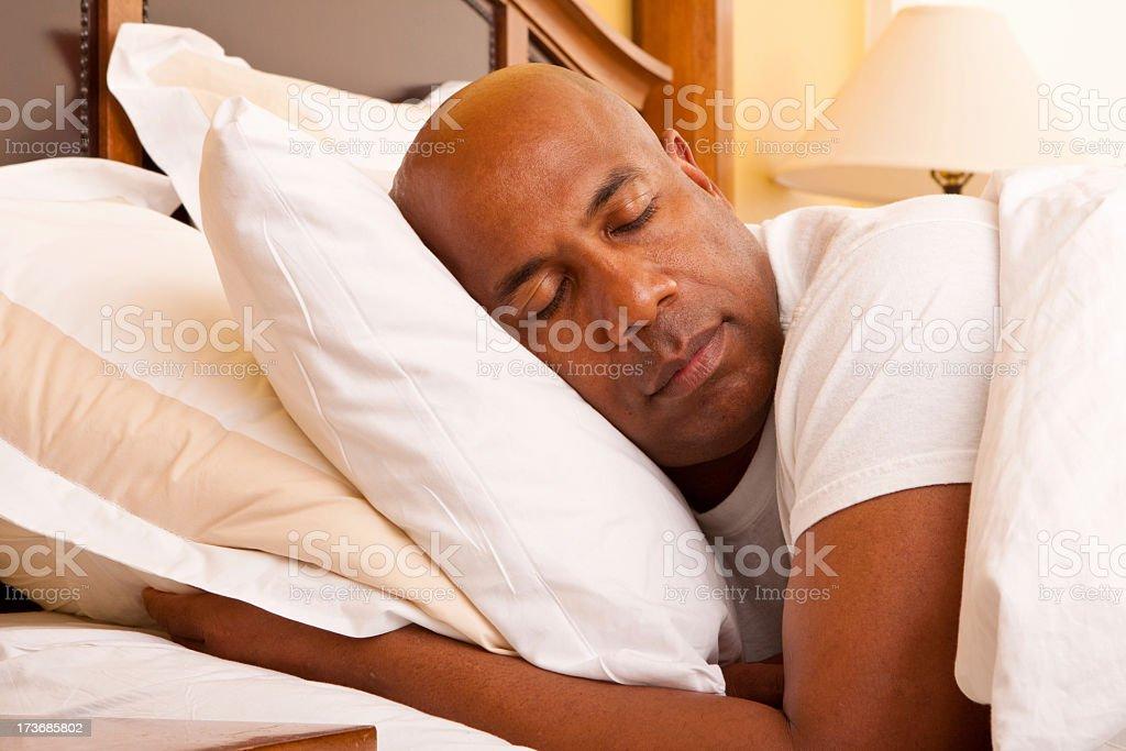 Man sleeping royalty-free stock photo