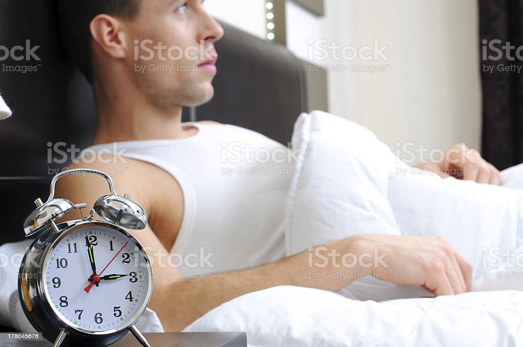 Man sleeping royalty-free stock photo