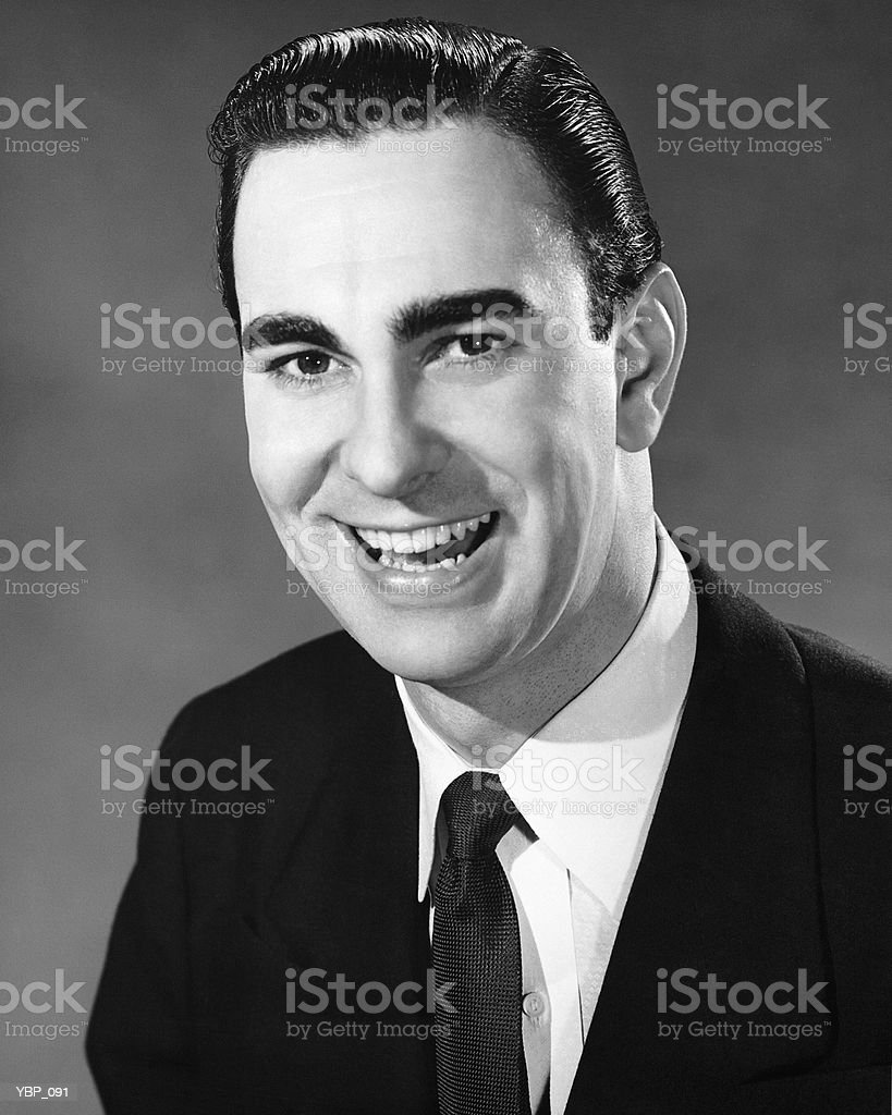 Man smiling and posing royalty free stockfoto