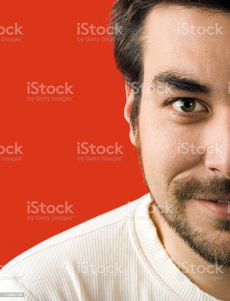 Man smiling and staring royalty-free stock photo
