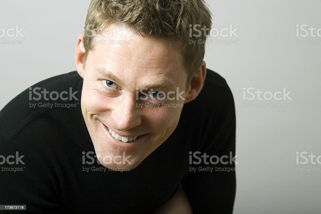 Man Smiling at Camera royalty-free stock photo