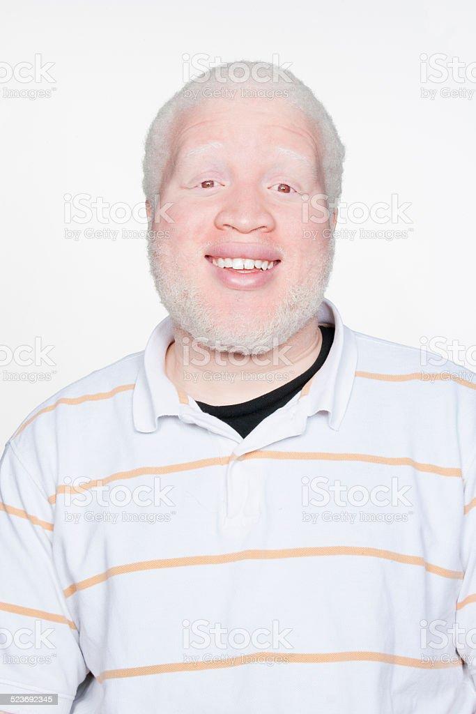 Man smiling at camera stock photo
