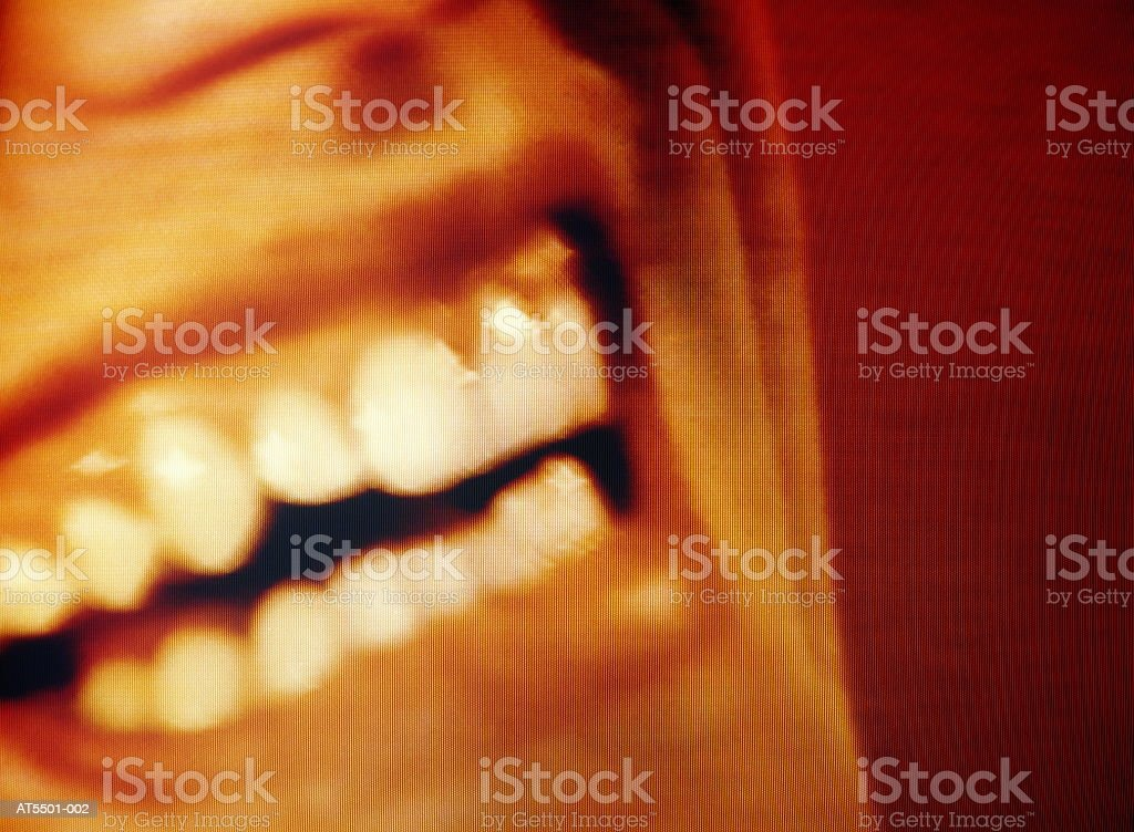 Man smiling, close-up (video still) royalty-free stock photo