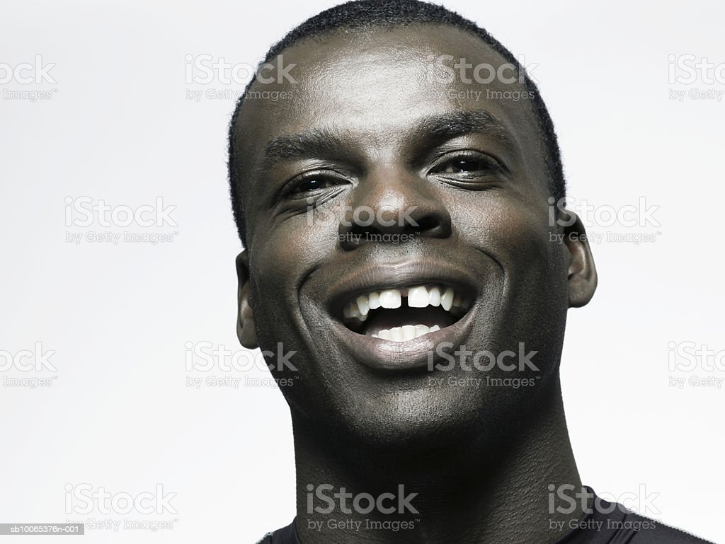 Man smiling, close-up foto royalty-free