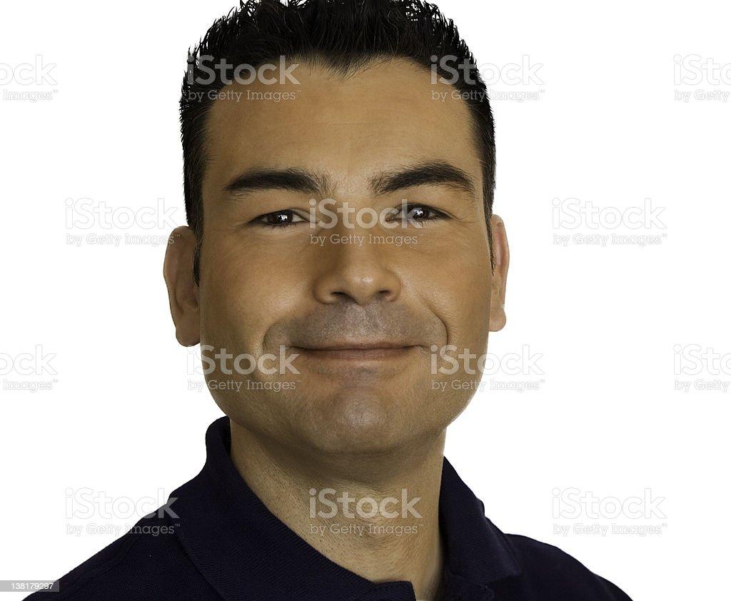 Man smiling isolated on white royalty-free stock photo