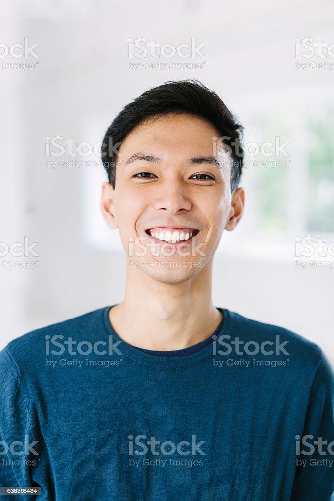 Hombre sonriente - foto de stock
