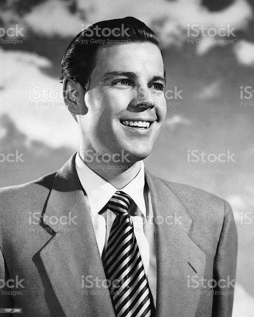 Man smiling royalty-free stock photo