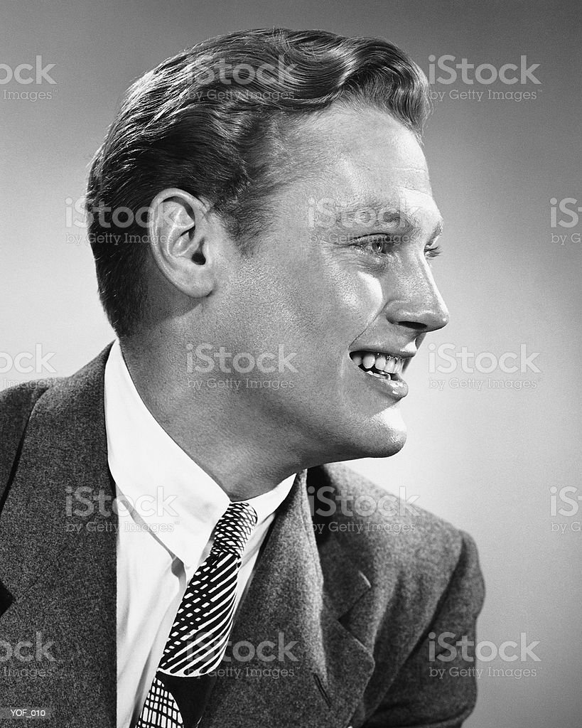 Man smiling royalty free stockfoto