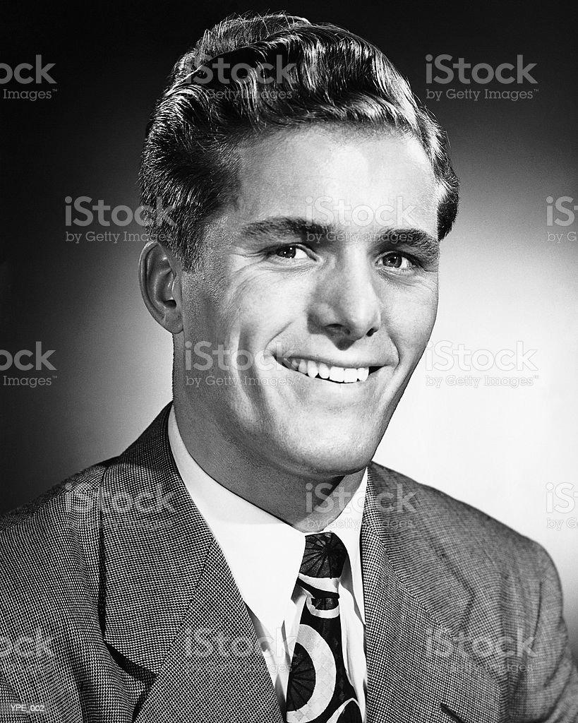 Hombre sonriente foto de stock libre de derechos
