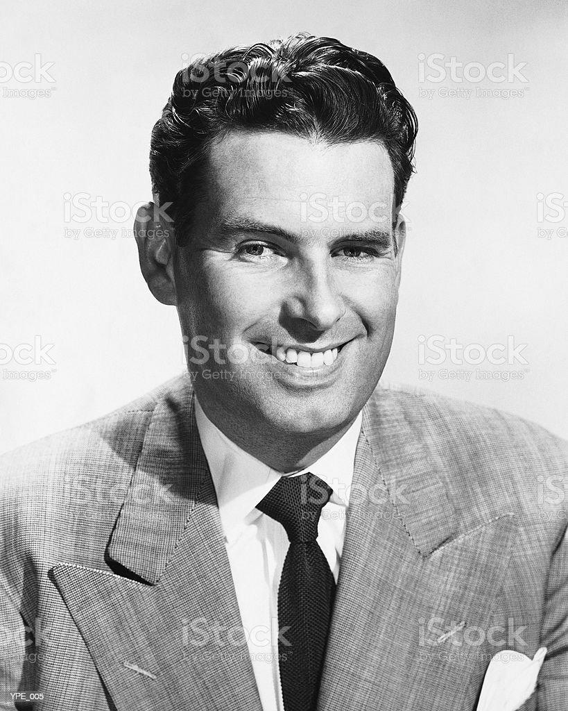 Homem sorridente foto royalty-free