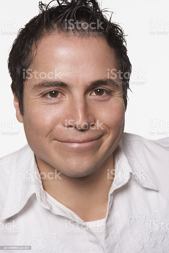 Man smiling, portrait foto de stock royalty-free