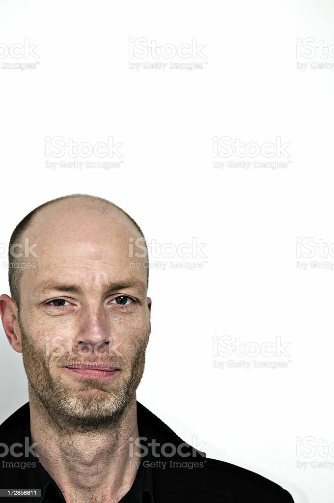 man smirk royalty-free stock photo