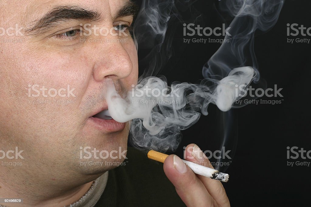 Man smoking royalty-free stock photo