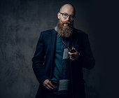 istock A man smoking tradition pipe. 1074567144