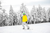 71595f9150c0 Little Cute Boy With Skis And A Ski Outfit Stock Photo   More ...