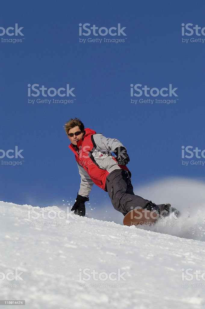 Man Snowboarding royalty-free stock photo