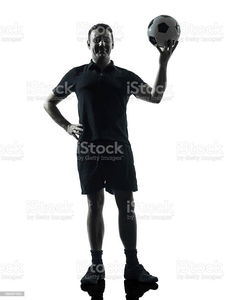 man soccer player silhouette royalty-free stock photo