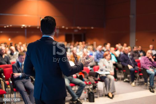 istock A man speaking at a business conference 499517325