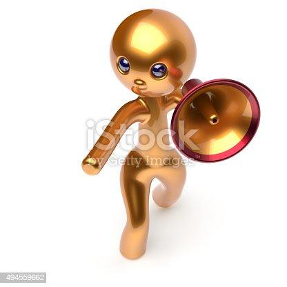1007383644istockphoto Man speaking megaphone promotion character making sale 494559662