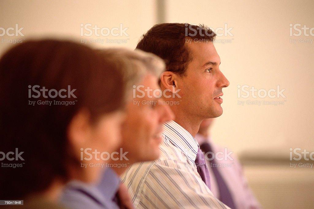 Mann spricht Lizenzfreies stock-foto