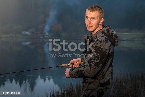 Man spinning fishing.