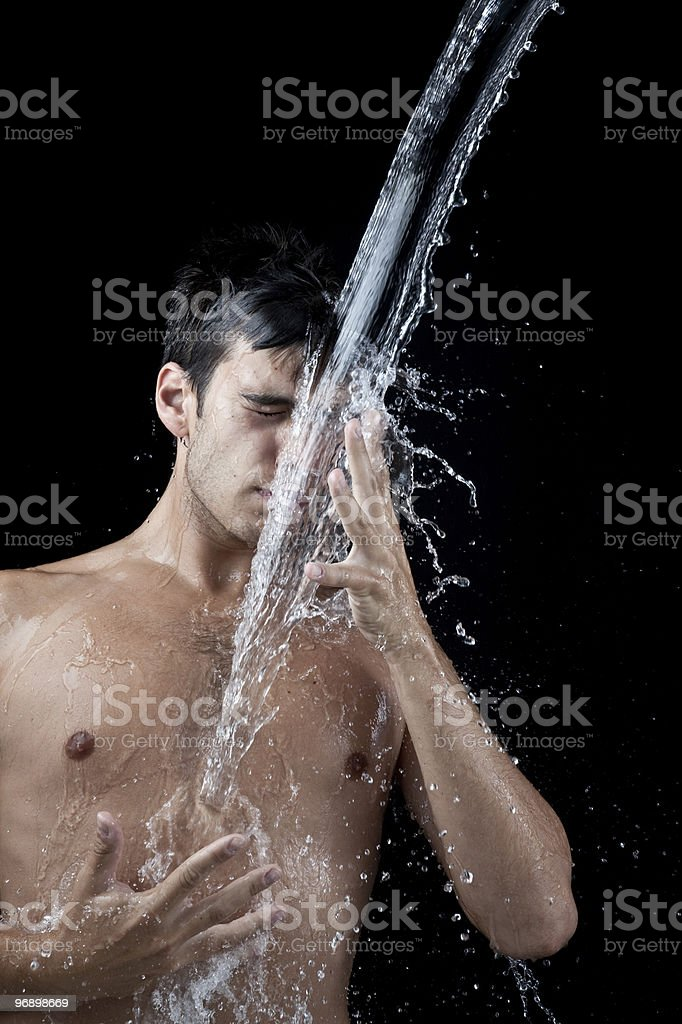 Man splash royalty-free stock photo