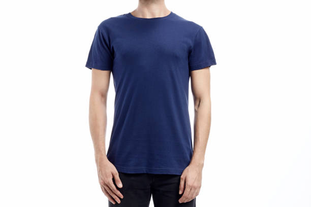 man standard tshirt mockup stock photo